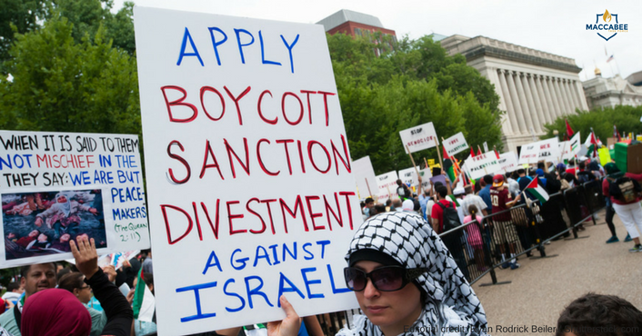 Boycott Divestment Sanctions Sign