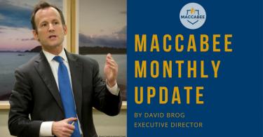 David Brog BDS Maccabee Monthly Update