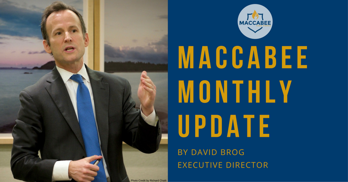 David Brog BDS Maccabee Monthly Update