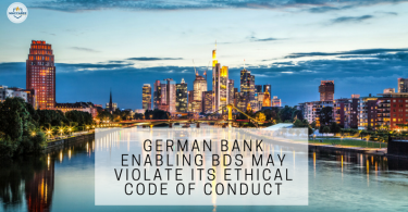 GERMAN BANK ENABLING BDS MAY VIOLATE ITS ETHICAL CODE OF CONDUCT