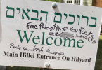 University of Oregon Hillel Sign Defaced With Free Palestine Graffiti
