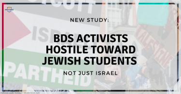 New study_ BDS activists hostile toward Jewish students, not just Israel