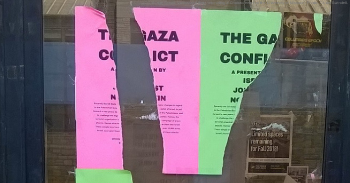 Over 80 Fliers Promoting University of Missouri Event With Israeli Journalist 'Systematically Torn Down'