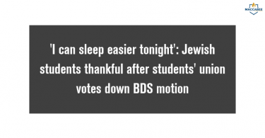 'I can sleep easier tonight': Jewish students thankful after students' union votes down BDS boycott motion