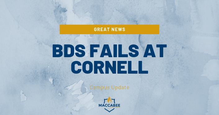 "Cornell University's student government rejected a resolution on Thursday calling for the school to divest from entities ""profiting from the occupation of Palestine and human-rights violations."""