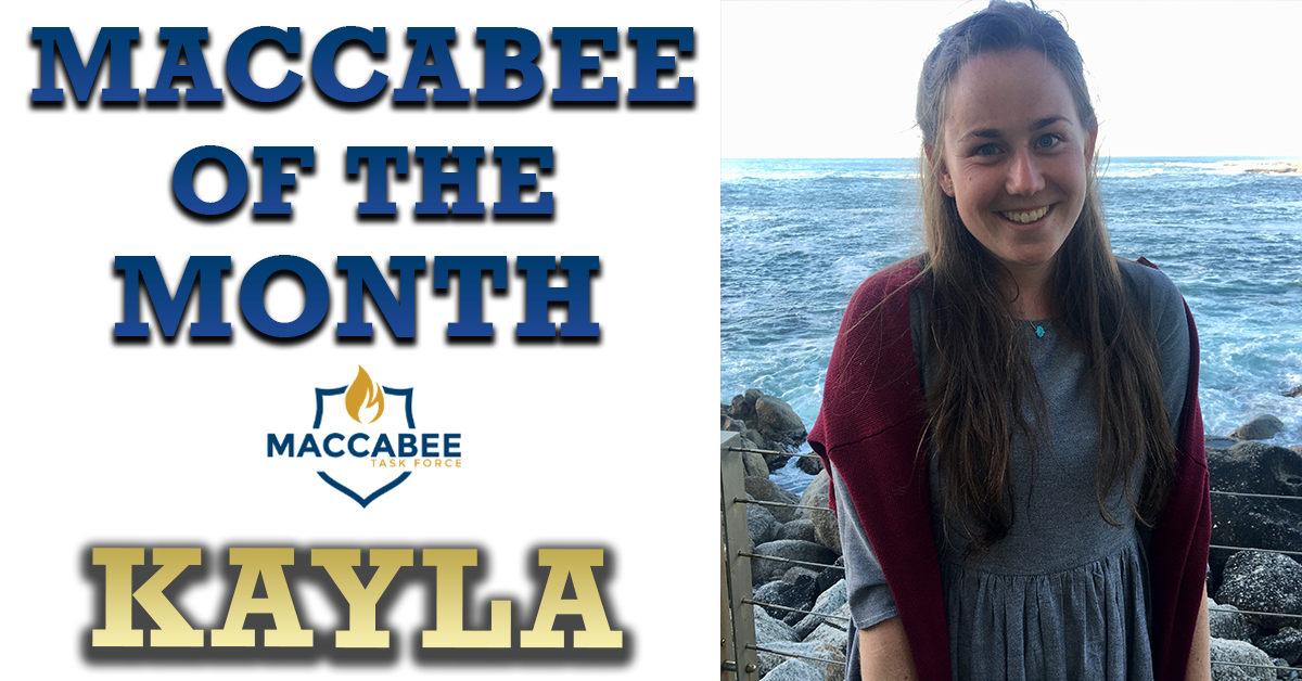 Maccabee of the Month Kayla - Wits University