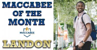 Maccabee of the Month - Landon