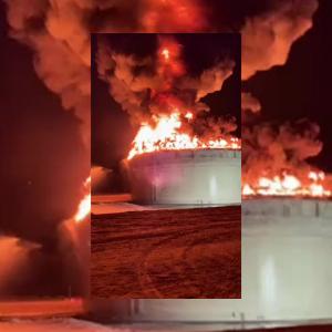 Israeli pipeline on fire