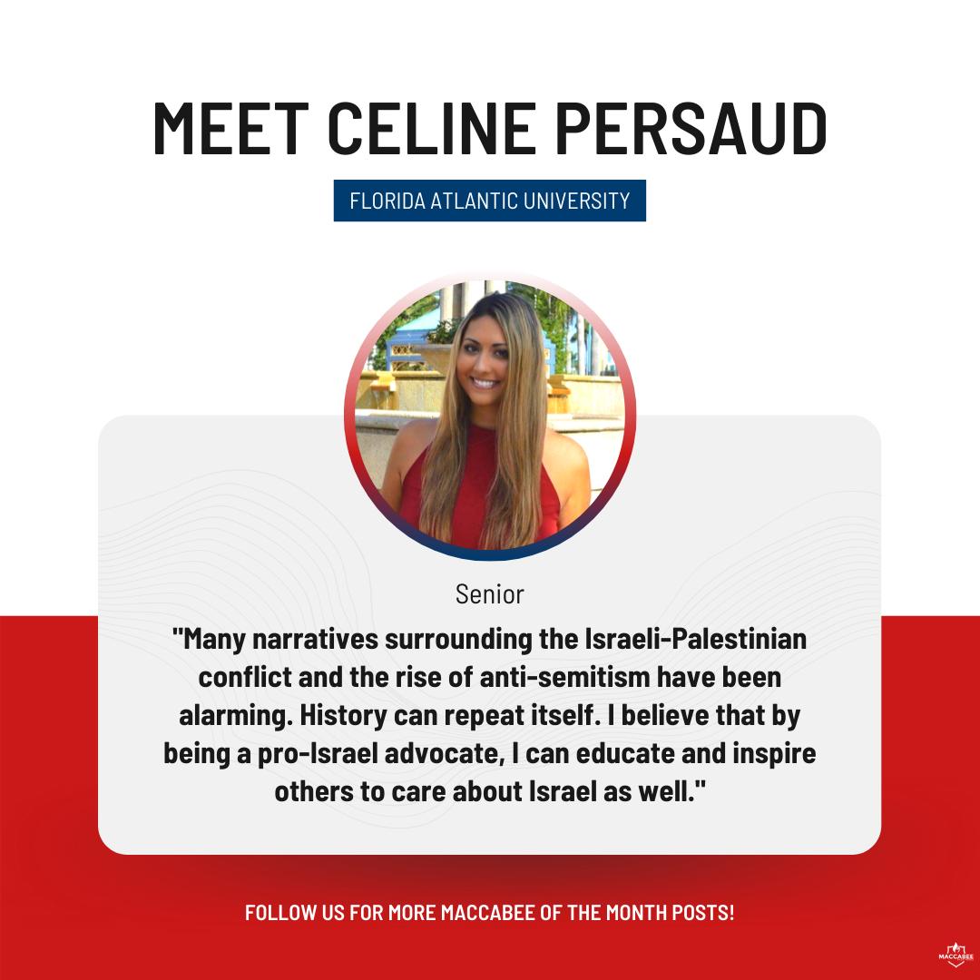 Meet Celine Persaud, Florida Atlantic University Israel Trip